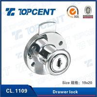 [CL.1109] Zinc alloy chrome black desk drawer,cabinet drawer lock