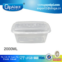 2000ml rectangle big disposable food container box