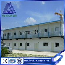 prefab light steel flat roof house T house