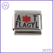 Allergy Allergic to Flagyl Medical Alert Italian Charm for Bracelet