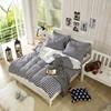Hot sale best price home stripe cotton world bedding set king size bedding sets cheap