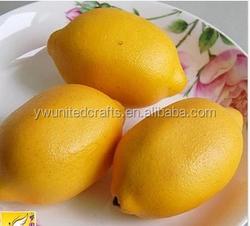 High simulation fruit/artificial fruit lemon home decoration /lemon festival promotion gift items