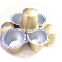 Disposable aluminum foil food container lid