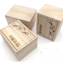 Environmental-friendly delicate tea chest,unfinished homemade pine wooden tea box