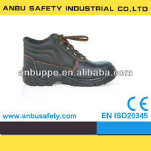 security construction company buffalo leather safety workman shoes with reflective strips