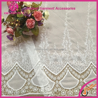 Guangzhou High Quality Embroidery Cotton Ladies Suits Lace Design