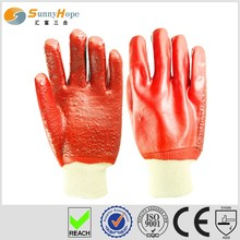 sunnyhope interlock red fully dipped pvc coated gloves