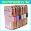 Luxury diamonds Wallet Leather stitching TPU leather case for Sony Z4