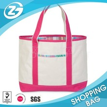 Heavy Duty 100% Cotton Shopping Tote With Outer Pocket