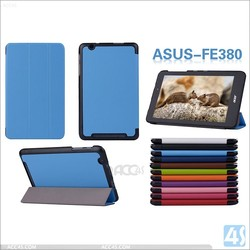 3 fold smart leather case cover for ASUS FE380