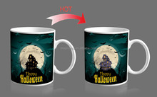 China Manufacturing Promotion Coporate Gift Items Black Color Changingmug,Holloween Stoneware Coffee Mug
