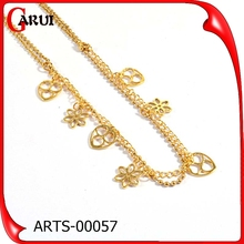New chain design gold plate design 2015 statement necklace