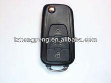 3 botones de control remoto flip shell llave del coche para Roewe llave sin cortar directo de fábrica con buen precio