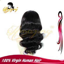 2015 Alibaba wholesale Cheap Human Virgin Hair Peruvian Full Lace Wig In Stock Top Quality