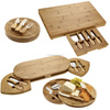 high quality bamboo cheese cutting board set with knife