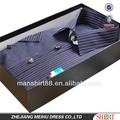 Rayas de gama alta de manga corta vestido / de la oficina / de la camisa formal