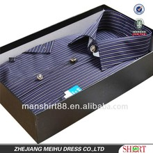 Striped high-end men short sleeves dress/office/ formal shirt