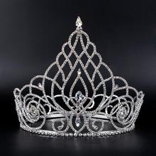 HG003 2015 New Style Yiwu Wholesale Factory Supplier Nice Romantic Hot Sale Fashion Elegant Alloy Crystal Tiara Crown