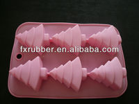Fancy design christmas tree silicone mould for cupcake