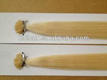 Natural Straight Top Quality Flat tip/U tip/I tip hair prebonded hair peruvian natural straight hair