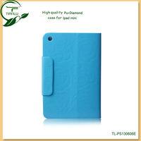 2013 High quality PU leather case stand case for ipad mini,stylish flip design fresh color case for ipad mini
