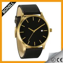 classic men oem custom print watches band leather black/tan mvnt watch