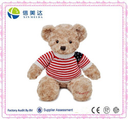 Teddy bear with spin cloth looked American flag