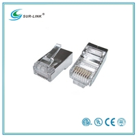 One Roll Two Branchs Cate 5e FTP 8P8C Plug