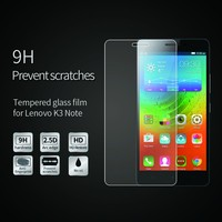 New 0.33mm Clear Transparent tempered glass screen protector for Lenovo Lemon K3 Note
