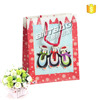 customized logo printing laminated paper bag,new year gift bag for shopping