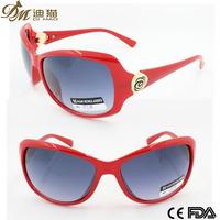 Newest 2015 fashionable beautiful red big frame trendy woman sunglasses