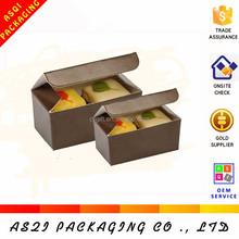 disposable rectangular birthday cake packaging paper cardboard box for macaron