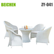 beichen round rattan coffee table and chair