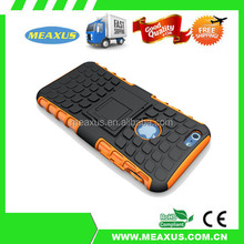 Hot Orange New arrival 2in1 PC+Silicon Cool 4.5 inch Phone Case with holder case for ip 6