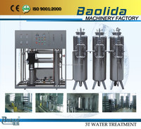 3000LPH ro treatment system water purifying machine plus softner for high hardness water