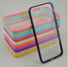 Hot Selling Wholesale China Cheap Smart Hybrid TPU Silicone Frame Bumper Phone Case Cover for iPhone 6 Acrylic Case