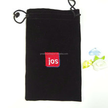 Top quality velvet jewelry gift bag for ipad