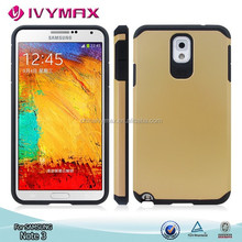 Hybrid case for Samsung Note 3 durable PC+TPU mobile phone accessories