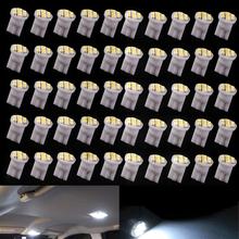 50Pcs T10 W5W 194 168 501 Car White 8 LED 3528 SMD Wedge Side Light Bulb Lamp