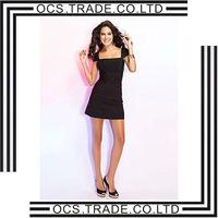 2014 designer black gorgeous silk dress
