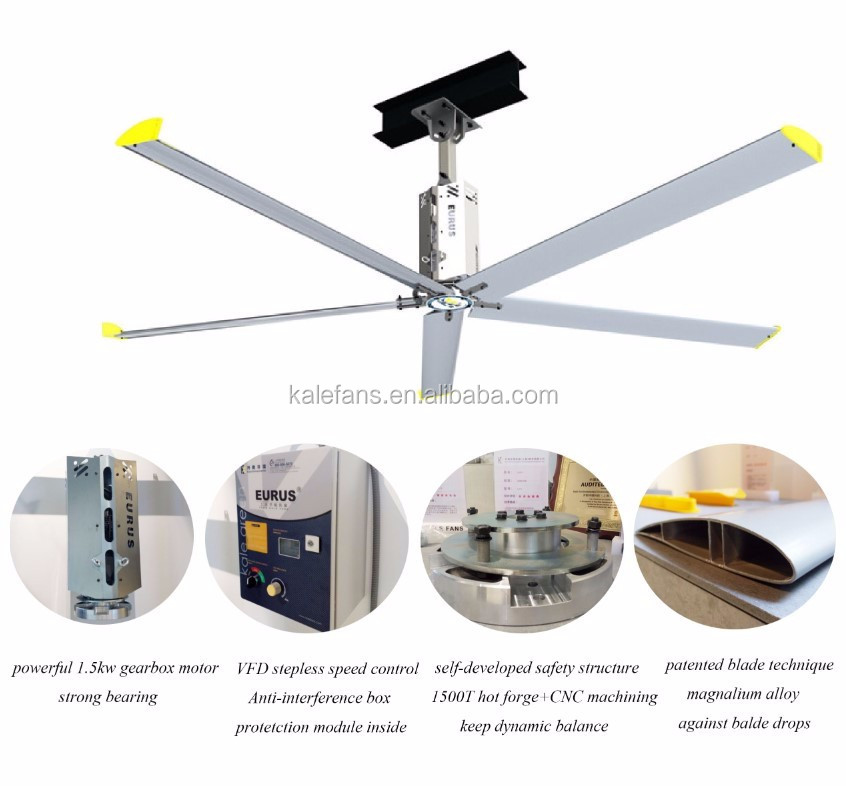 Lenze Brand Geared Box Big Large Industrial Ceiling Fans Malaysia Eurus Fan