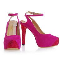 women slingback fashion 2014 satin diamond wedding girls high heels