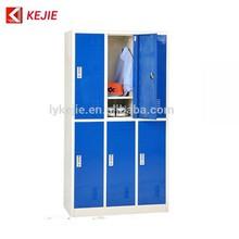 Roupas e sapatos armário de armazenamento armário de aço 6 portas guarda-roupa do armário 6 porta do armário para crianças
