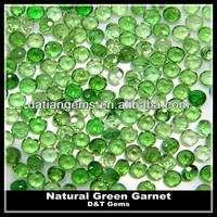 Round diamond cut green garnet price