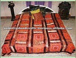 Colchas bordadas cama de veludo