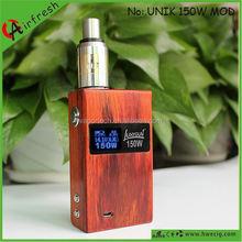 Wood box Unik Shenzhen hot selling e-cig wood mod carved x-fire vapor pen