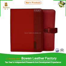 Chinese red fancy handcrafted diary/A5 leather soft cover diary