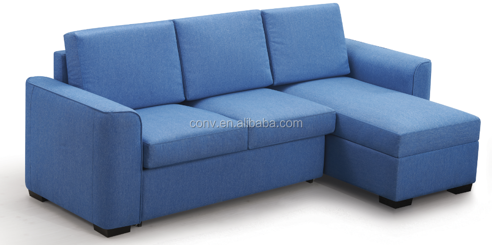 Fabric Sofa Bed With Chaise Storage - Buy Corner Fabric Sofa Bed
