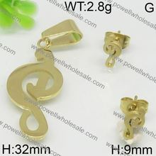 Attractive matte gold jewelry