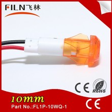 Hot Sale FILN With Wire Plastic10MM Yellow Led 36V traffic signal light bulbs